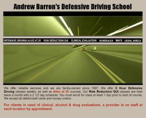 andrew barron's defensive driving school