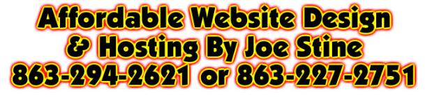 joe stine affordable web site design & hosting