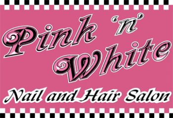 pink 'n' white nail & hair salon