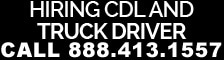 hiring cdl and truck drivers ct