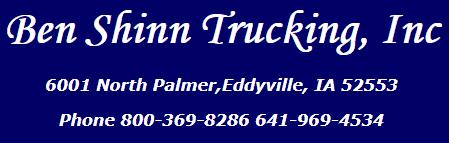 ben shinn trucking inc