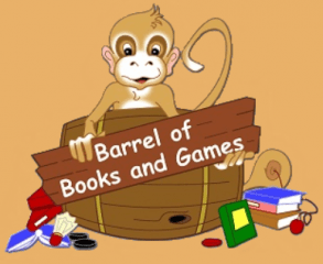 barrel of books and games