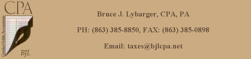 bruce j. lybarger, cpa, pa