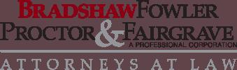 bradshaw fowler proctor & fairgrave pc