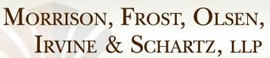 morrison, frost, olsen, irvine & schartz, llp