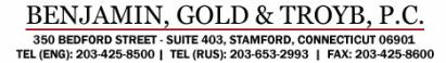benjamin, gold & troyb, p.c.