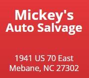 mickey's auto salvage