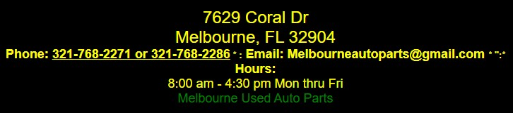 melbourne used auto parts /salvage yards