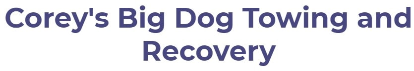 corey's big dog towing and recovery