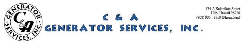 C & A Generator Services