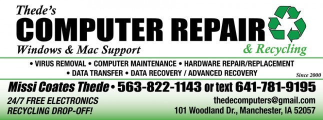 thede's computer repair & recycling